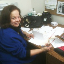 Long-time volunteer Paula Lettice hard at work at the 2012 GSH Phoneathon.