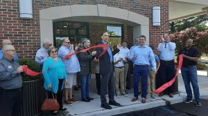 The ribbon at Roy Rogers in the Belle View Shopping Center was cut, welcoming a neighborhood gathering place back after a fire in 2019. Photo by Mike Salmon.