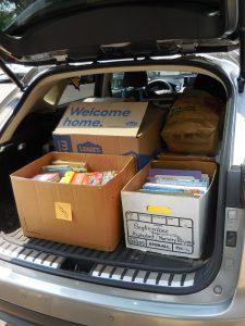 A trunk full of books